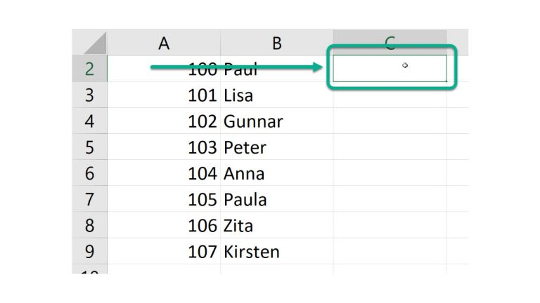 Function ffC() – Find first free column in first row